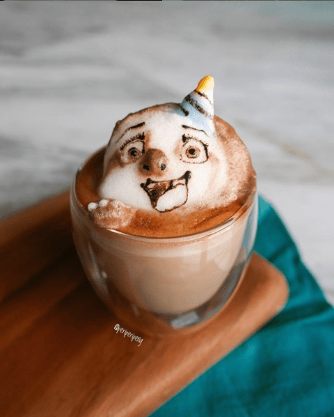 best latte art instagram