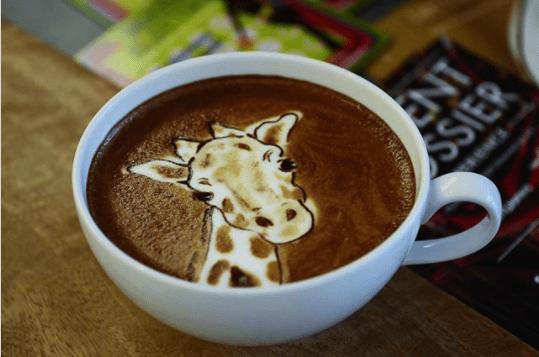 best animal latte art