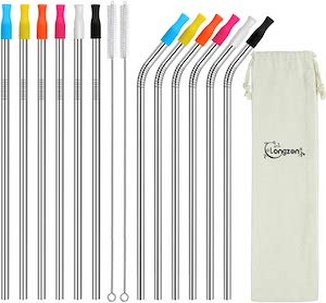 Longzon Metal Straw