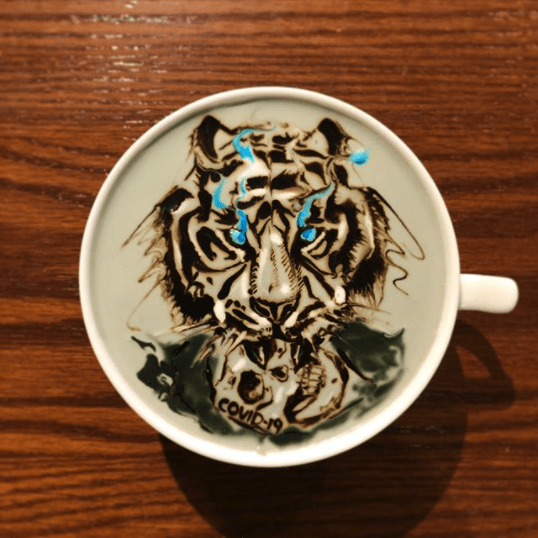 tiger latte art ideas