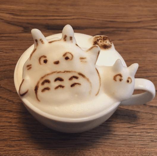 best coffee foam art