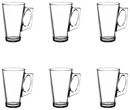 ANSIO Large Latte Glass Coffee Cups