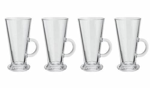 Argos Home Glass Latte Mugs