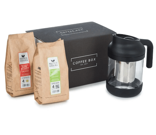 Coffee Gift Set with Cold Brew Coffee Maker