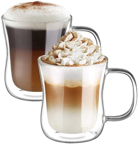 Ecooe Double Walled Latte Machiatto Mugs