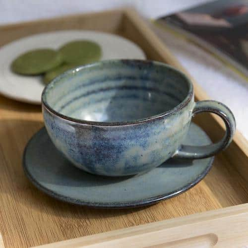 Mad About Pottery Cappuccino Cup and Saucer