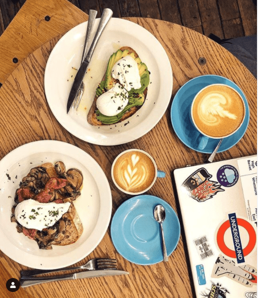 best coffee shop for food london