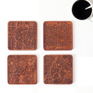 O3 Design Studios City Map Coasters