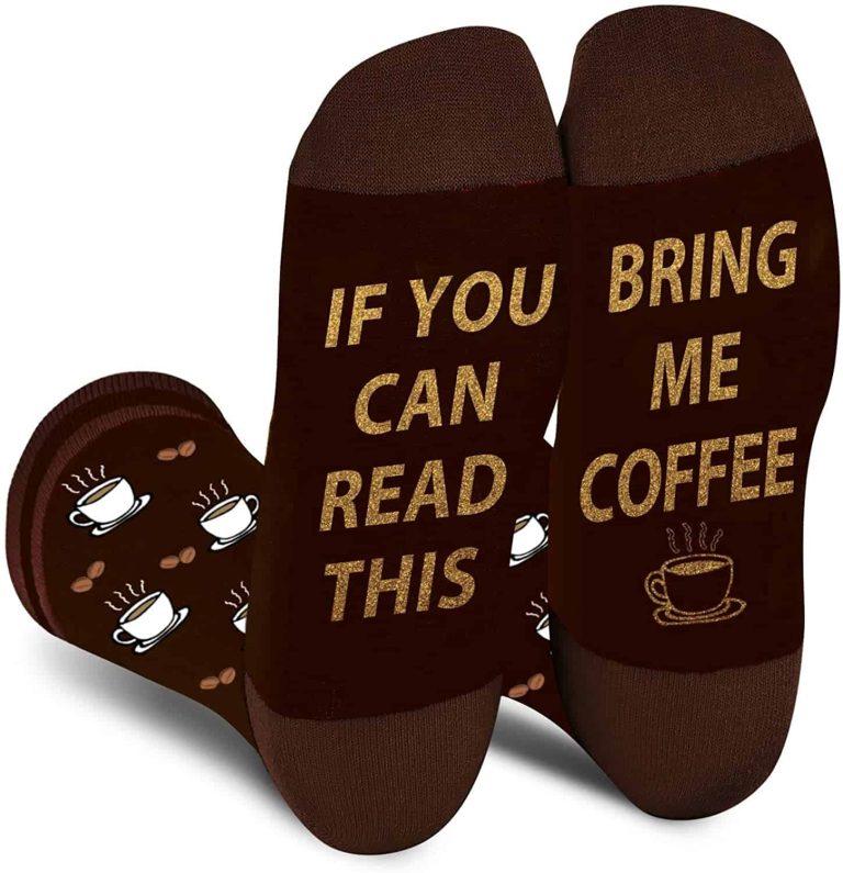 "Agrimony's ""Bring Me Coffee"" Socks"