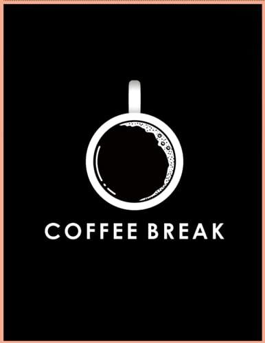 "Coffee Human's ""Coffee Break"" Ruled Notebook"