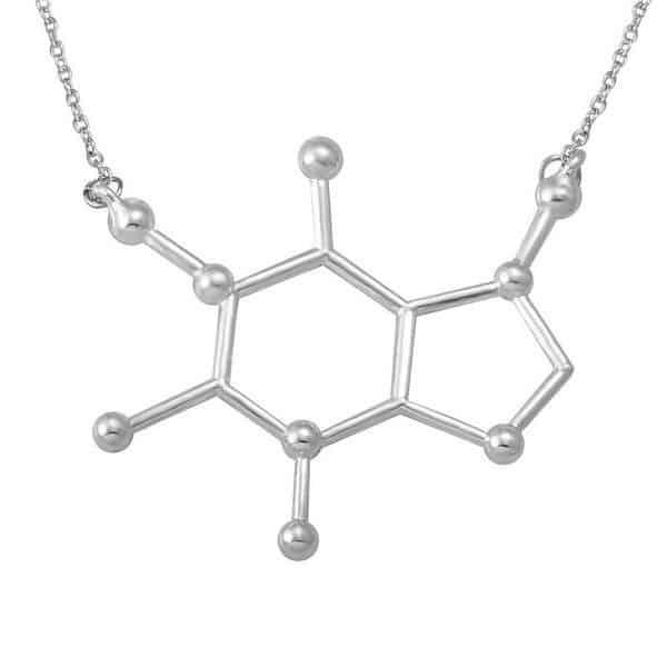 IzuBizu London's Caffeine Molecular Structure Necklace