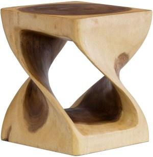 Laeto Wooden Twist Coffee Side Table