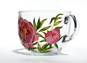 NB Handicraft Peony Flower Coffee Mug