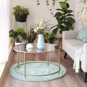 VASAGLE Round Coffee Table