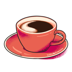 illustration of a cup of black coffee