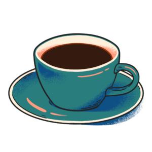 illustration of decaf coffee