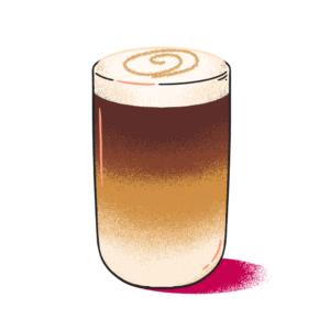 Illustration of a latte macchiato
