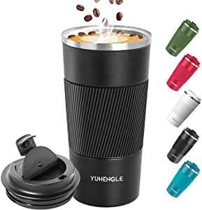 Yuhengle Insulated Coffee Cup with Leak Proof Lid