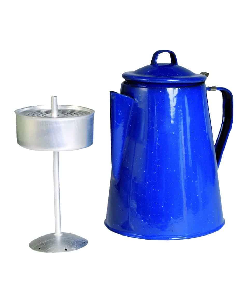 Mil-Tec Enamel Coffee Pot Percolator