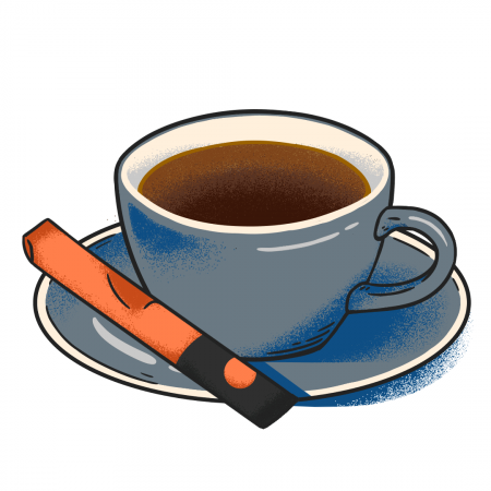illustration of instant coffee